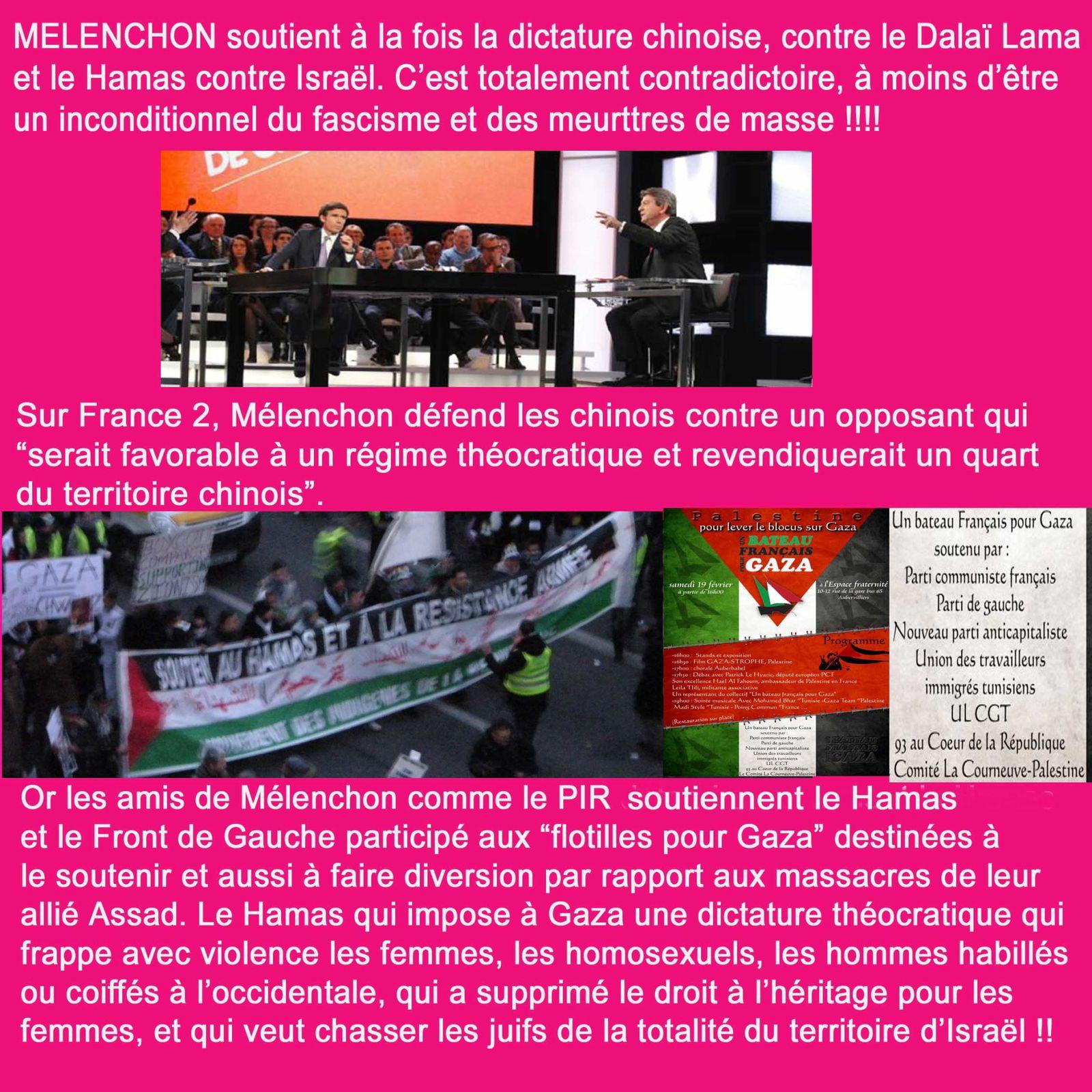 L'Immonde Hypocrisie de Mélenchon !!!