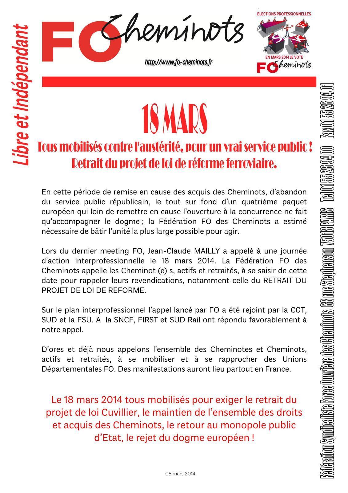 Tous Mobilisés contre l'austérité- 06 03 2014