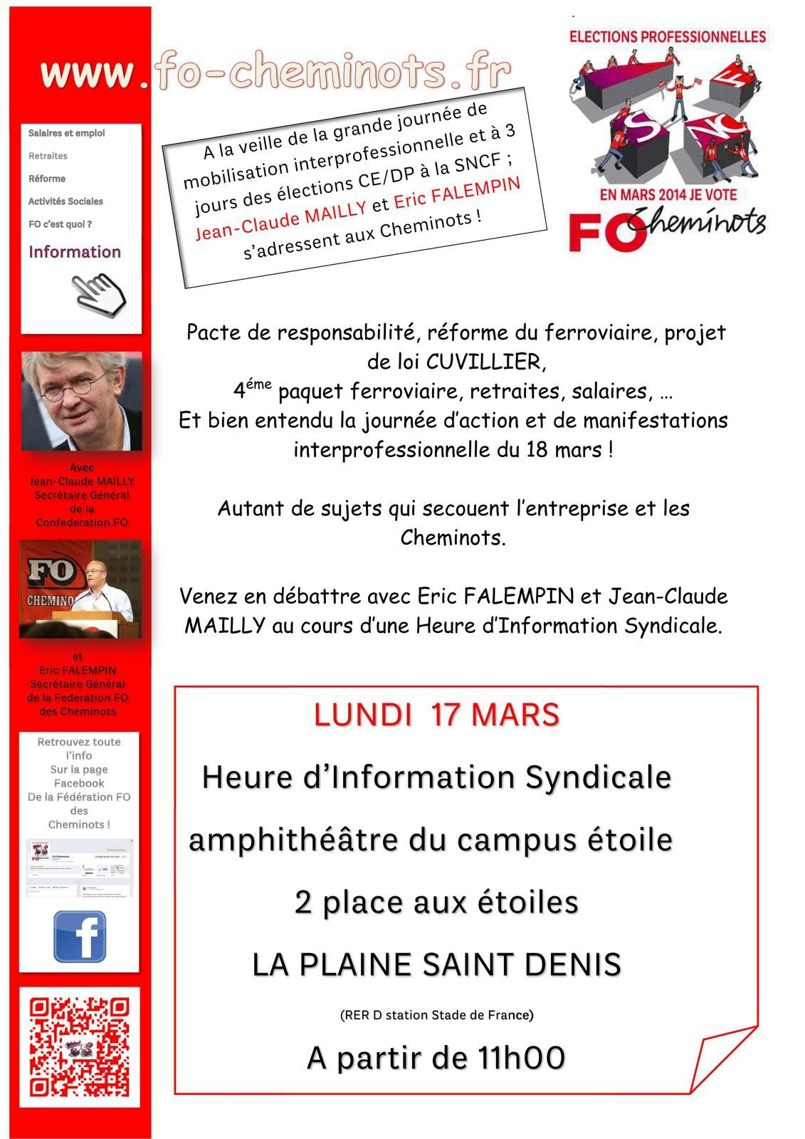Heure d'Information Syndicale_13 03 2014