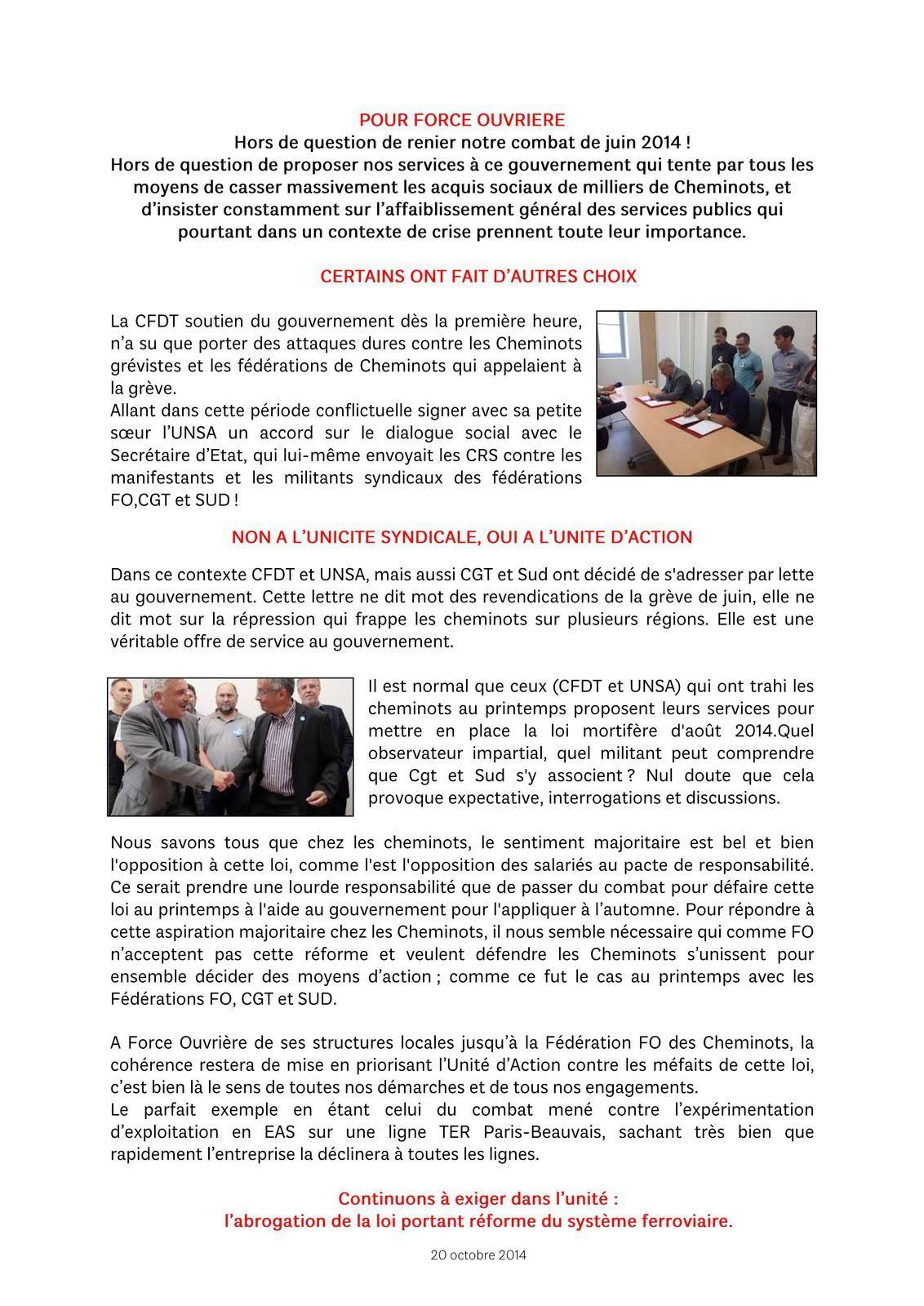 Lettre commune 21-10-2014