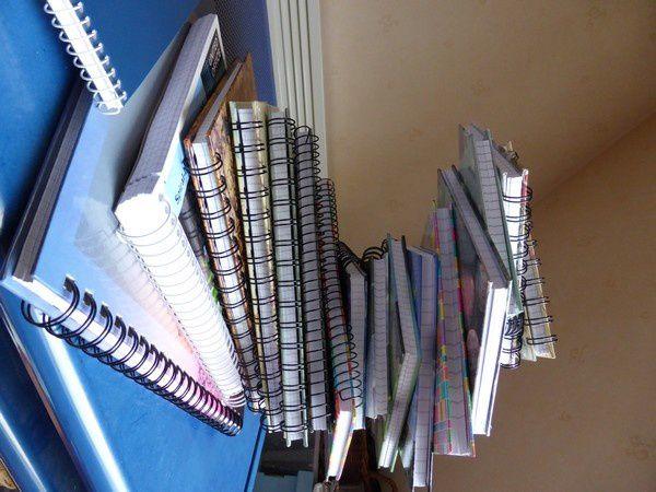 j'ai commencé par sortir ma collection de carnets à spirale... en faire une spirale ?