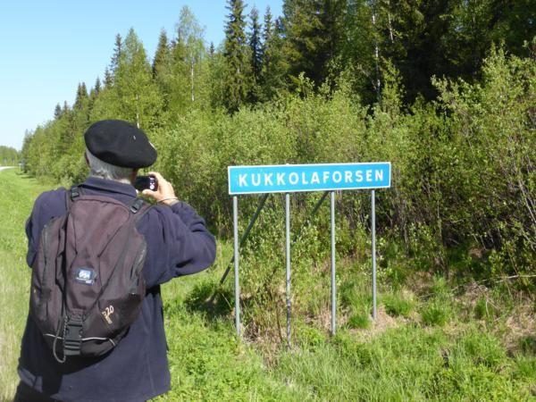 ...pour Kukkolaforsen...à 2 kilomètres du parking...