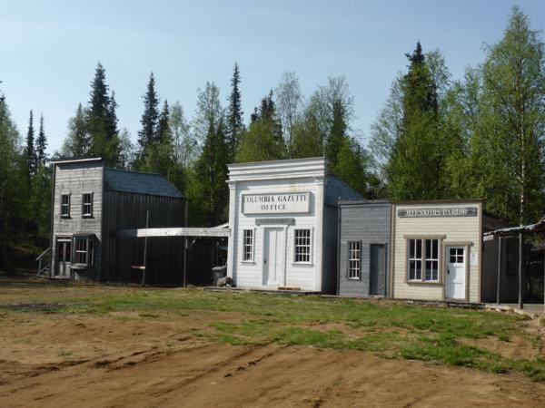 Tankavaara,la cité des chercheurs d'or, reproduction de véritables bâtiments de la ruée vers l'or ( Californie, Canada, Alaska...)