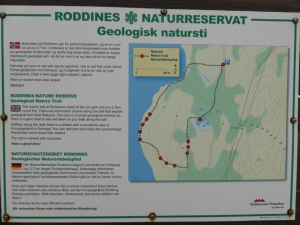 Sentier géologique... bien balisé avec des panneaux explicatifs très bien faits !