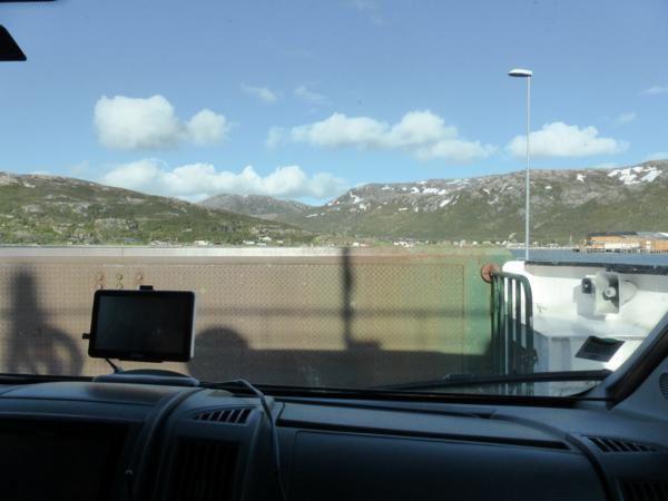 ...embarquement sur notre premier ferry norvégien...
