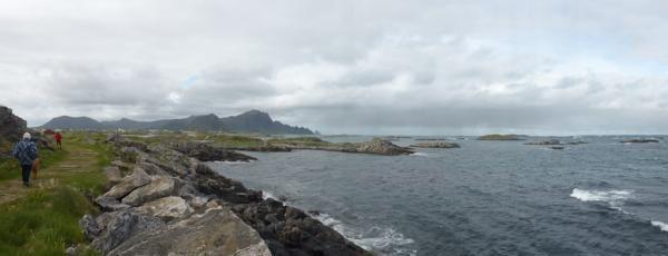 petit panoramique de la côte...
