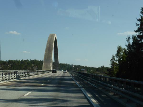 Nous franchissons le pont de Svinesund...