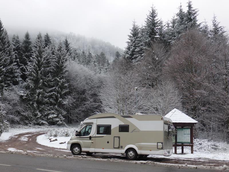 ..nous trouvons la neige au col du Hantz...
