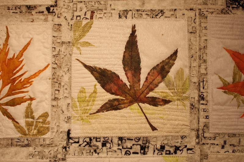 ..feuilles d'automne... et renoncules...