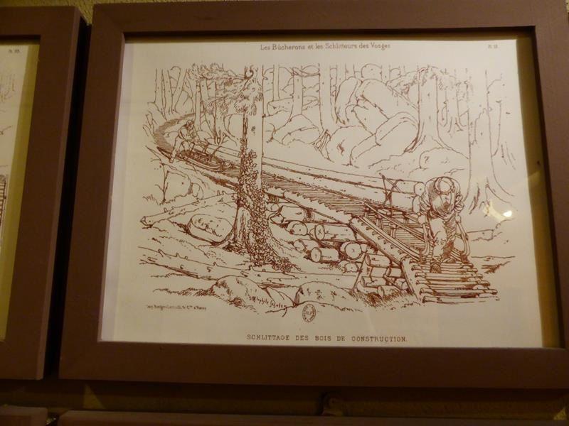 ...chargement et transport du bois...