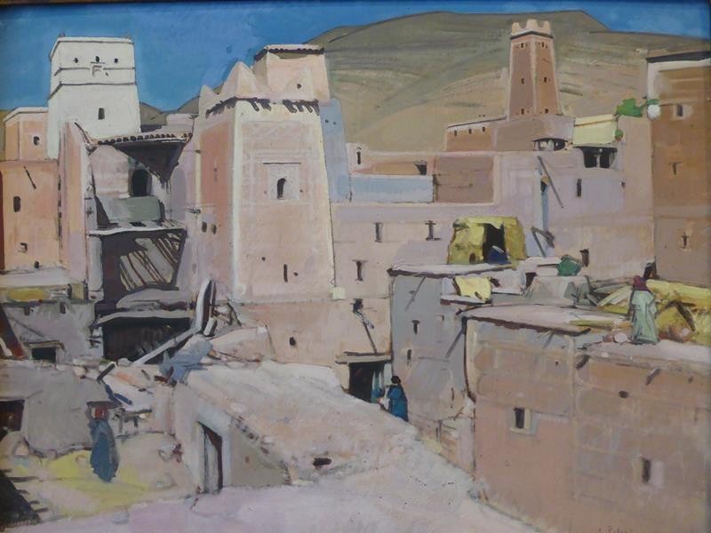 """j'ai aimé... Jacques Majorelle...""""le souk aux tapis Marrakech """" 1924 et """" Ighil N'oro Le Mellah"""" 1922"""