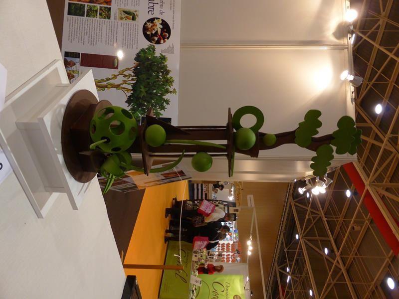 Pour bien terminer la journée, nous avons fait un petit tour au Salon du Chocolat.... des sculptures à couper le souffle...