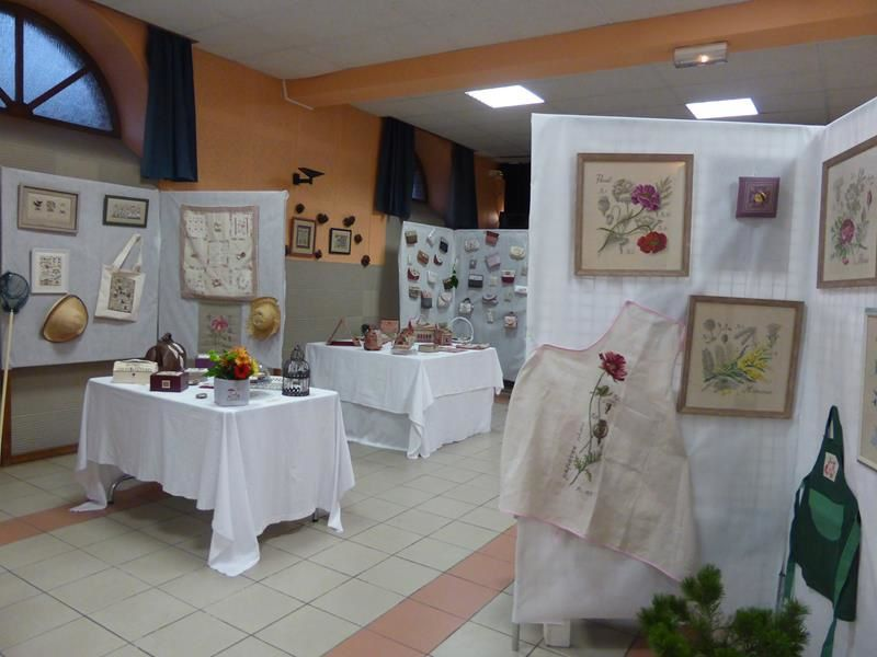Une belle exposition de broderies à Cesson