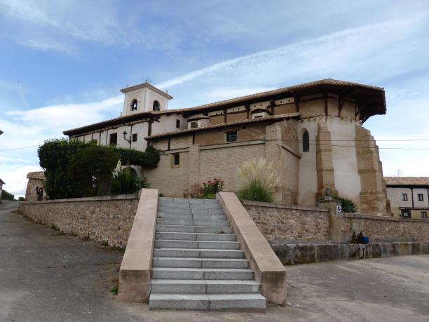 une curieuse église à Viloria de Rioja...
