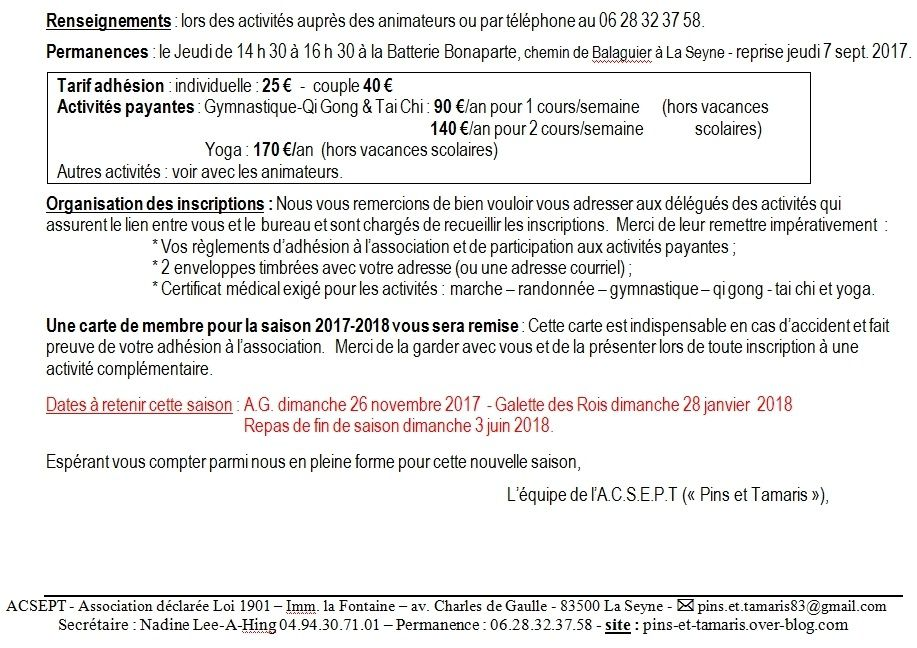 Rectificatif programme 2017-2018