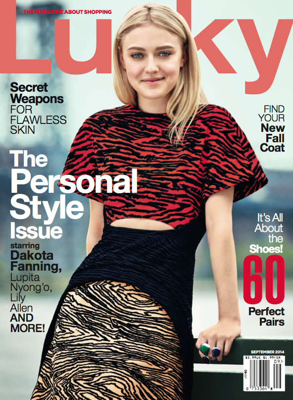 Dakota Fanning en couverture de Magazine.