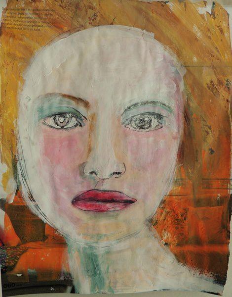 gelli plate portrait process