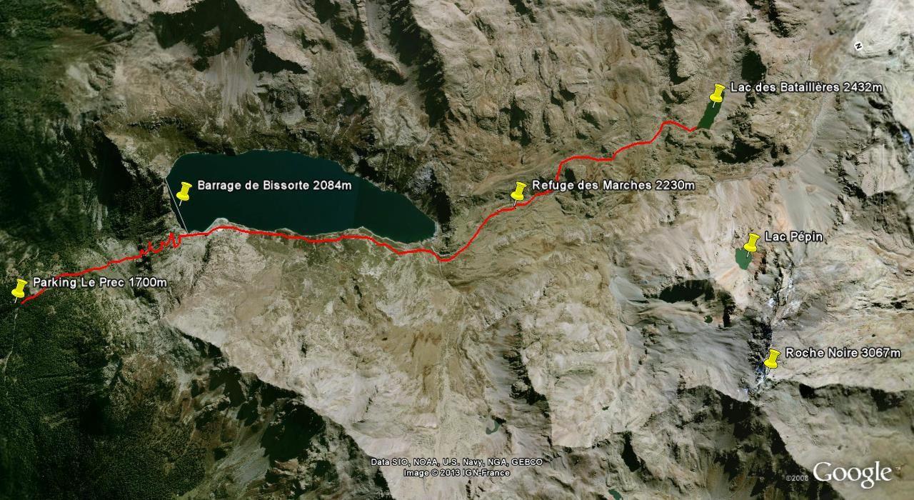 Randonnée Montagne - Lac des Bataillères - 2422m- (Thabor)