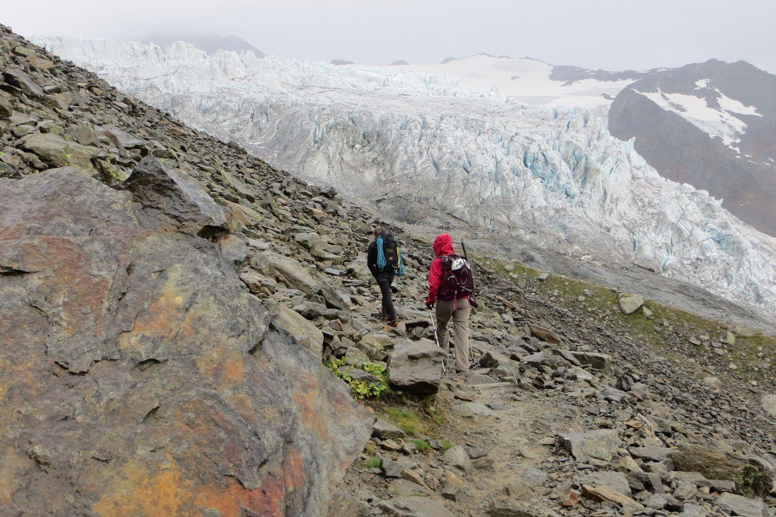 Sur la moraine du Glacier du Tour
