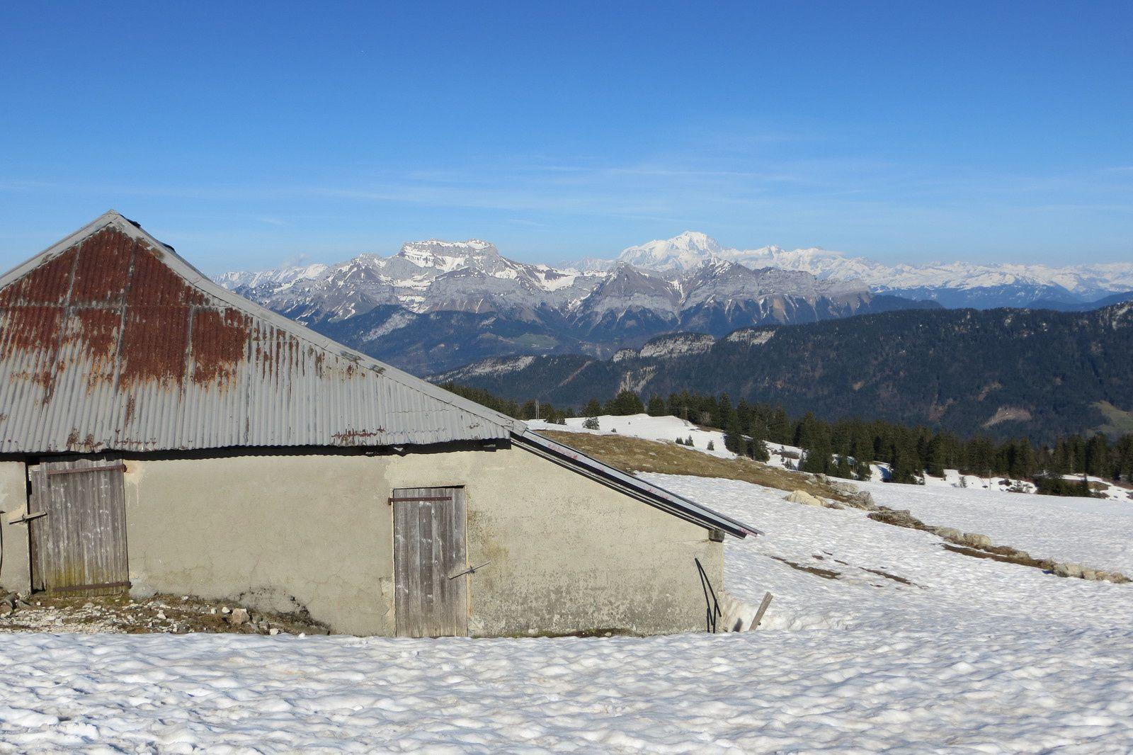 Les Chalets de Gruffy - La Tournette et le Mont Blanc