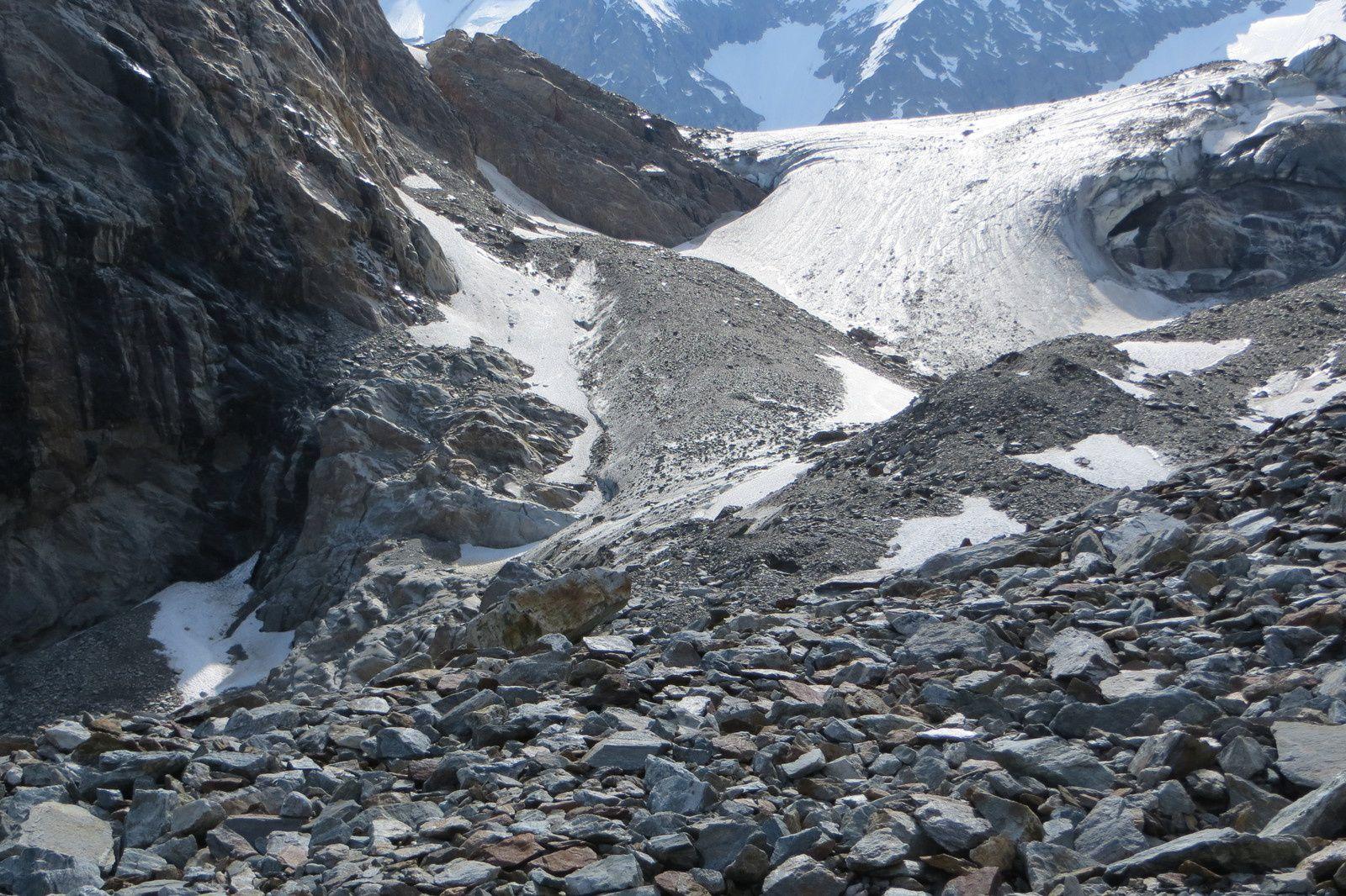 "La langue terminale du glacier ""blanc"""
