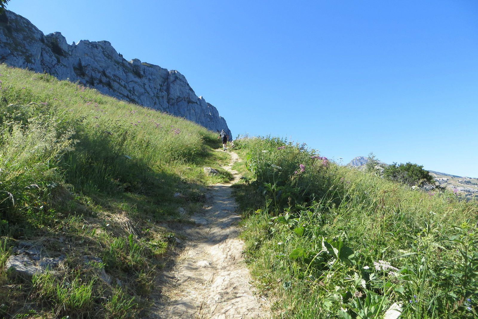 Sur le sentier de montée