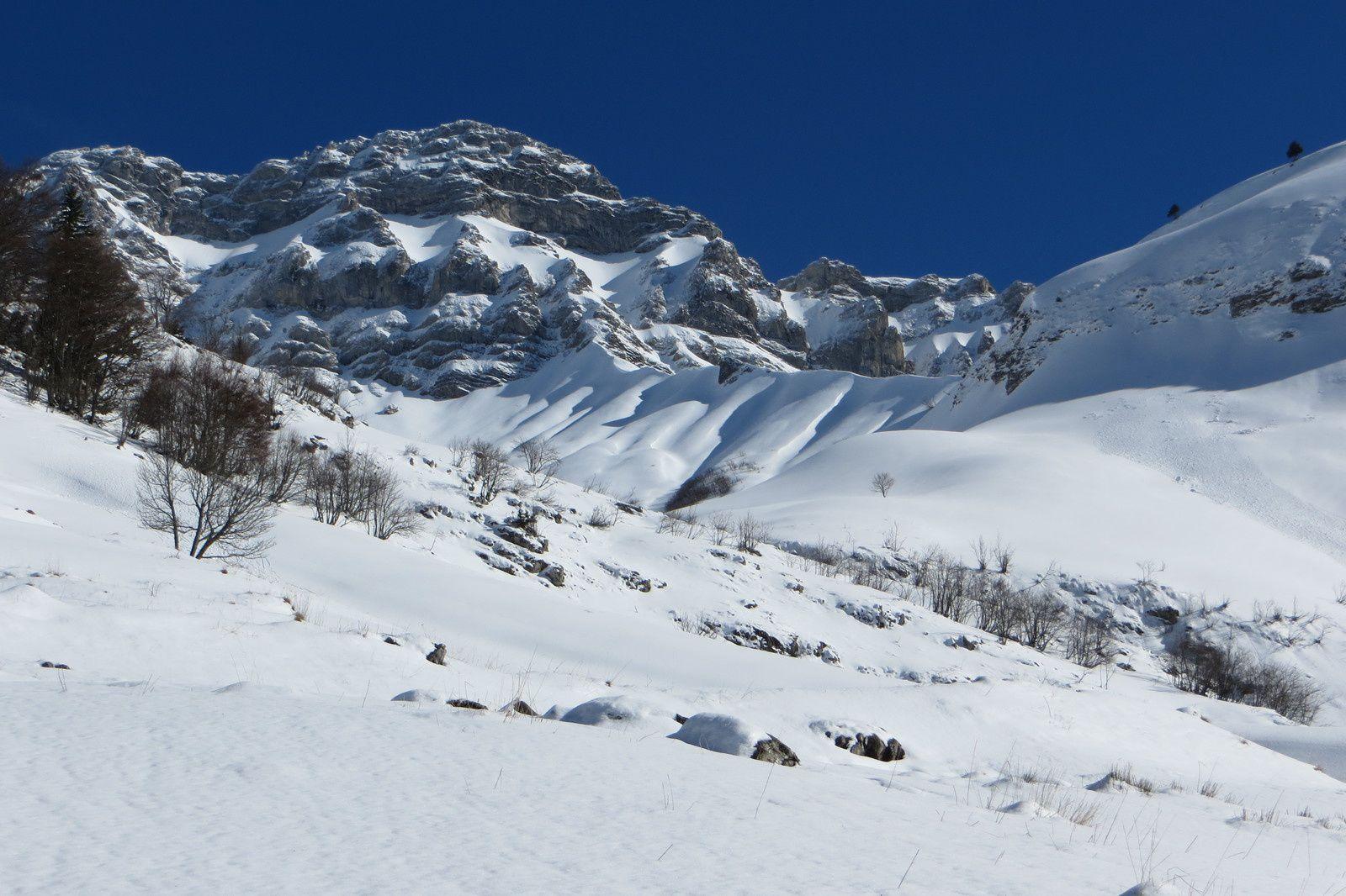 Face Ouest de la Pointe d'Arcalod 2217m