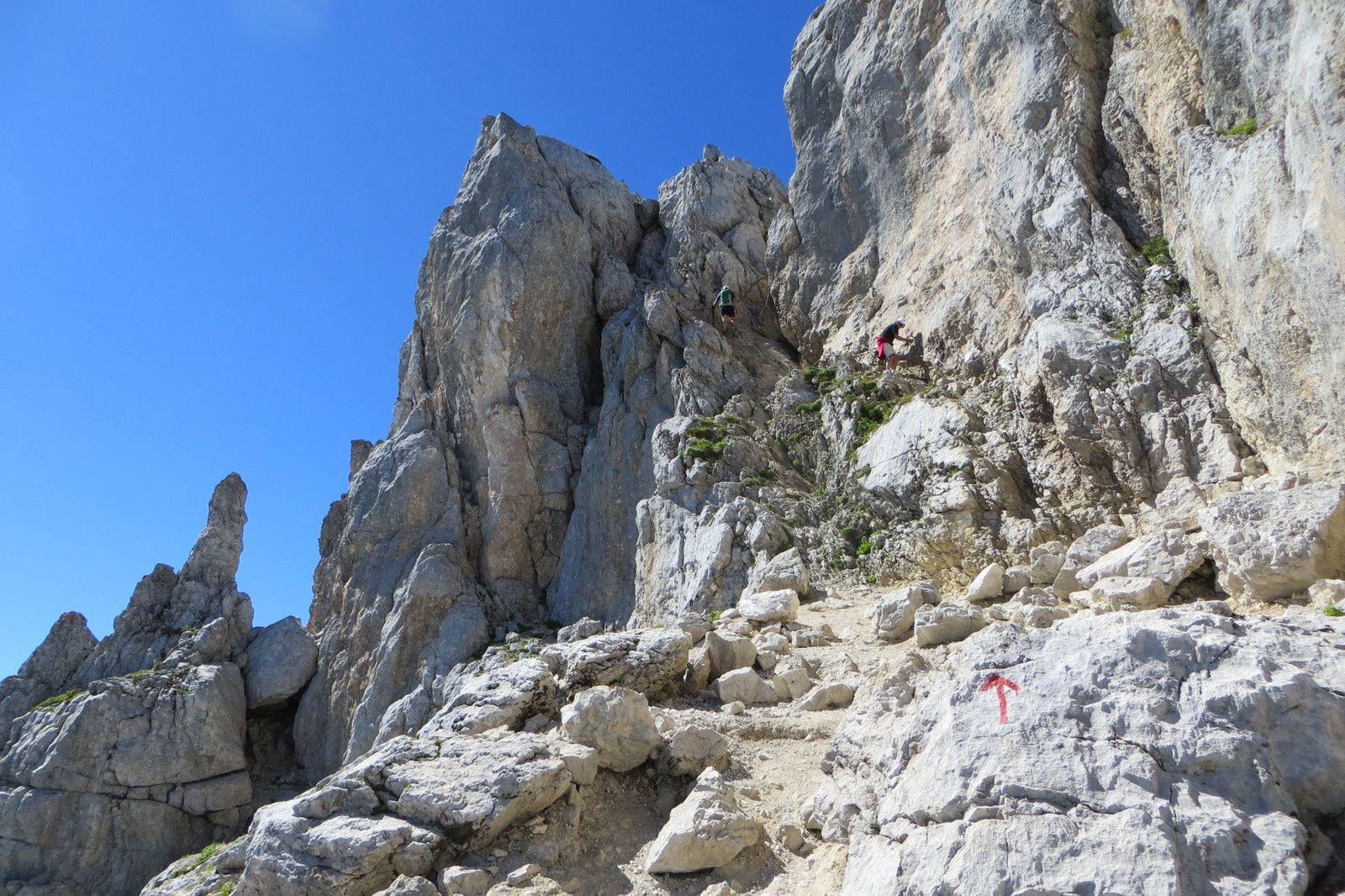 """La cheminée d'accès au sommet du """"Fauteuil"""""""