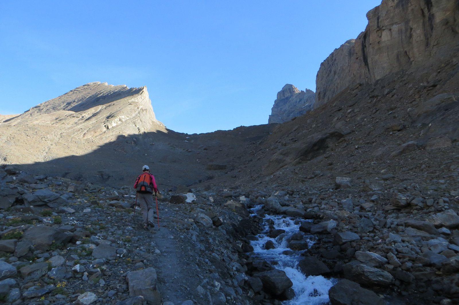 Sur l'itinéraire de montée - Le Torrent du Maurian