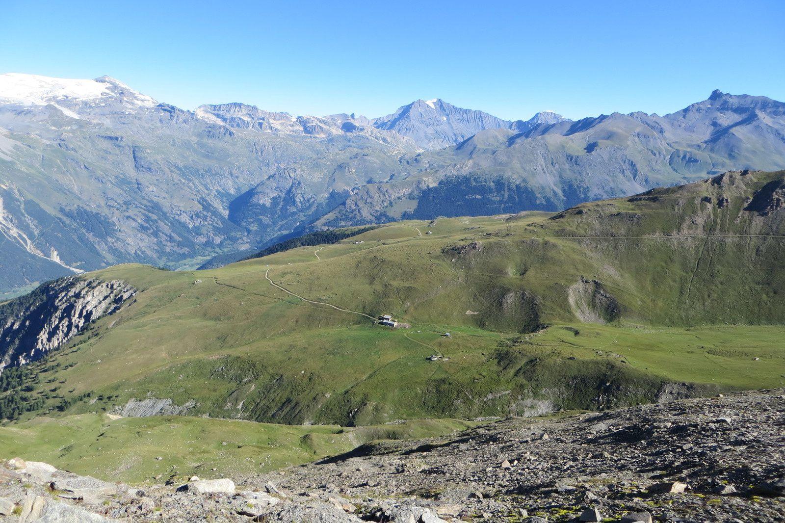 Alpage du Saut - Sommets de Vanoise (Grande Casse au centre)