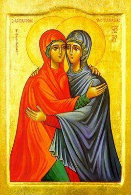 """""""Quand Elisabeth entendit la salutation de Marie, l'enfant tressaillit en elle. Elle fut remplie de l'Esprit Saint."""""""