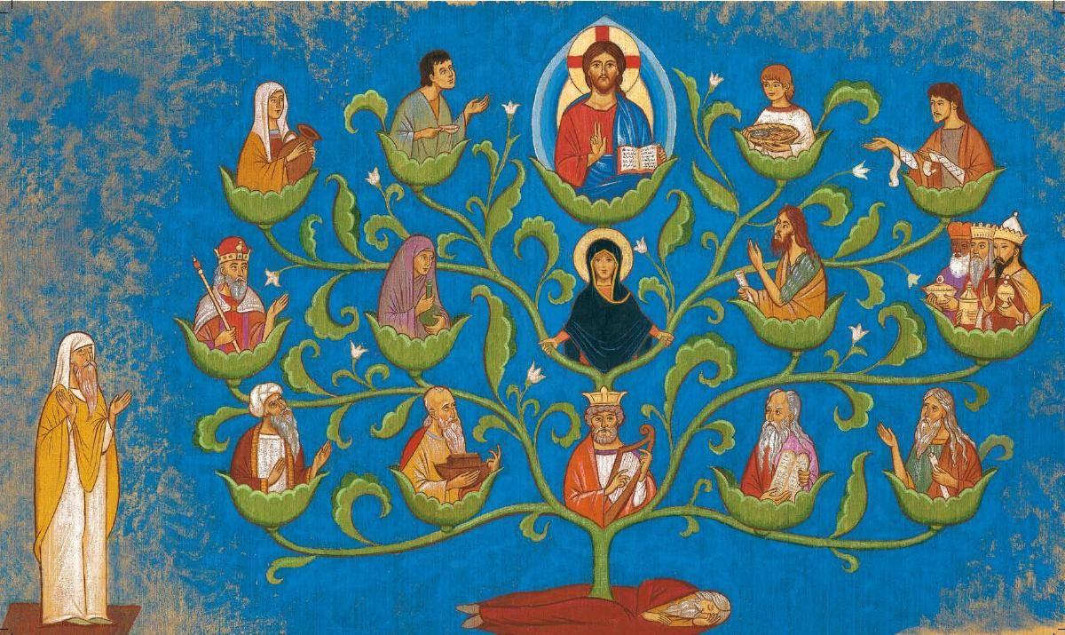 L'Arbre de Jessé, la généalogie de Jésus qui inscrit son Nom parmi les noms des hommes.