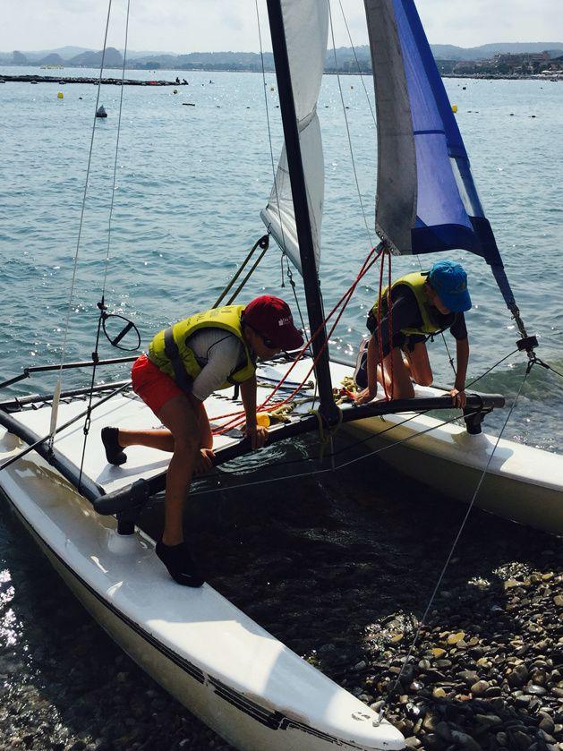 Stage de catamaran pour Ethan