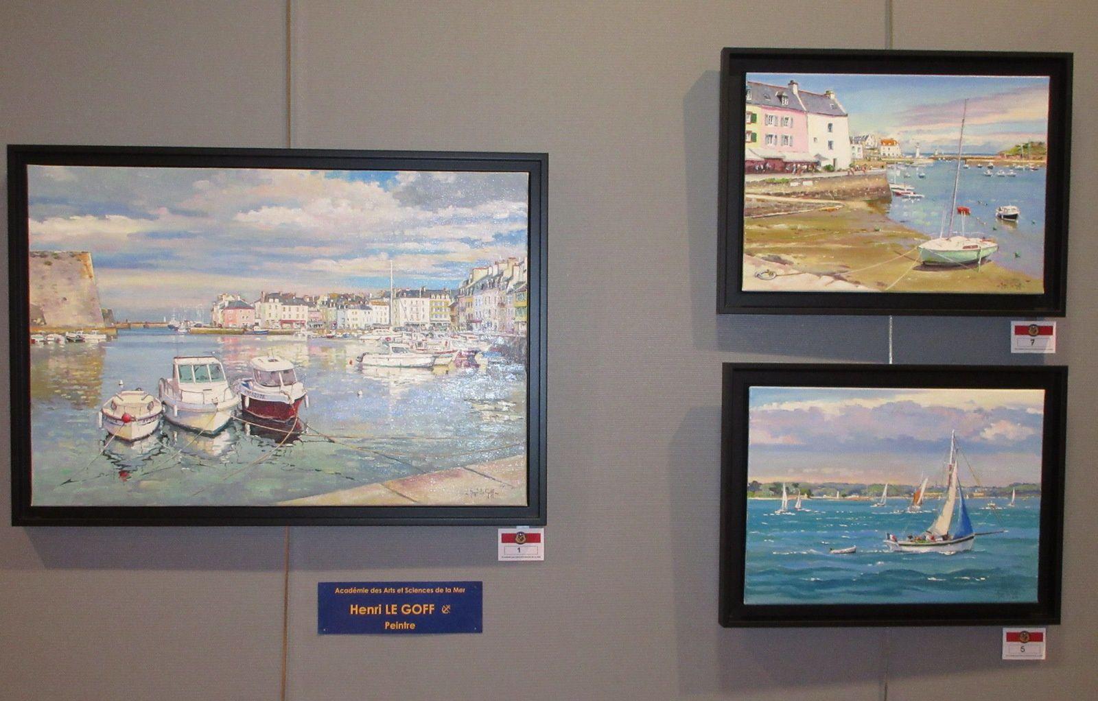 """Quelques œuvres présentées au salon """"Océanissime 2016"""" du 22 octobre au 6 novembre 2016 à la galerie de l'hôtel de ville de Larmor Plage (Morbihan)"""