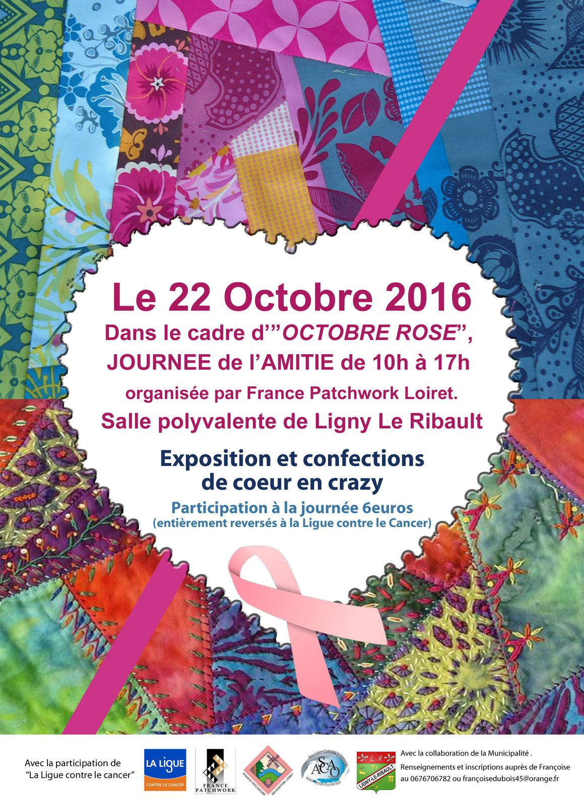 Octobre Rose avec France Patchwork