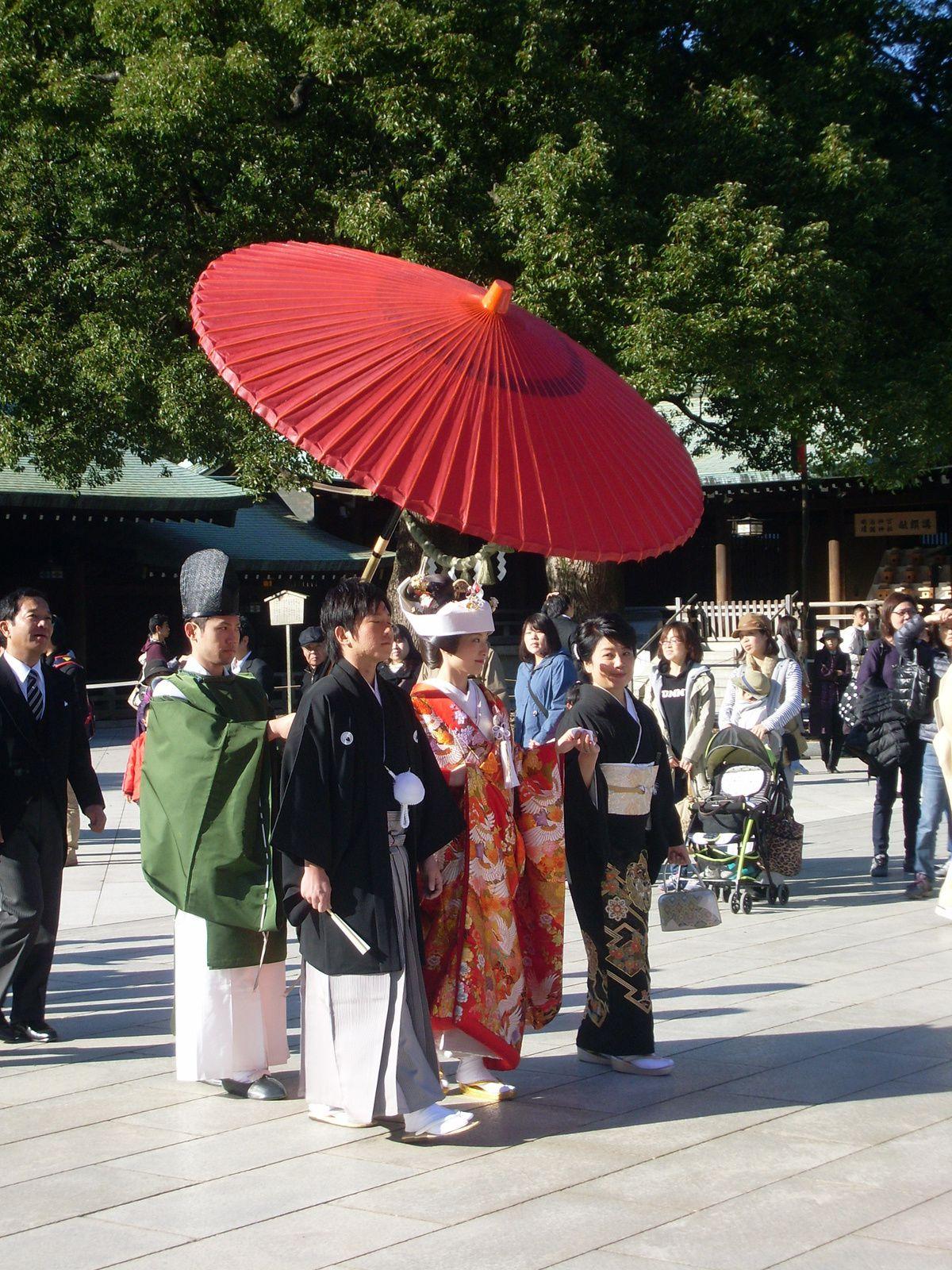 Mariage shinto au Parc Yoyogi - Tokyo Novembre 2013
