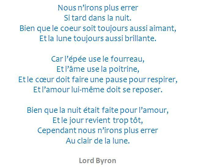 in the mood of Byron