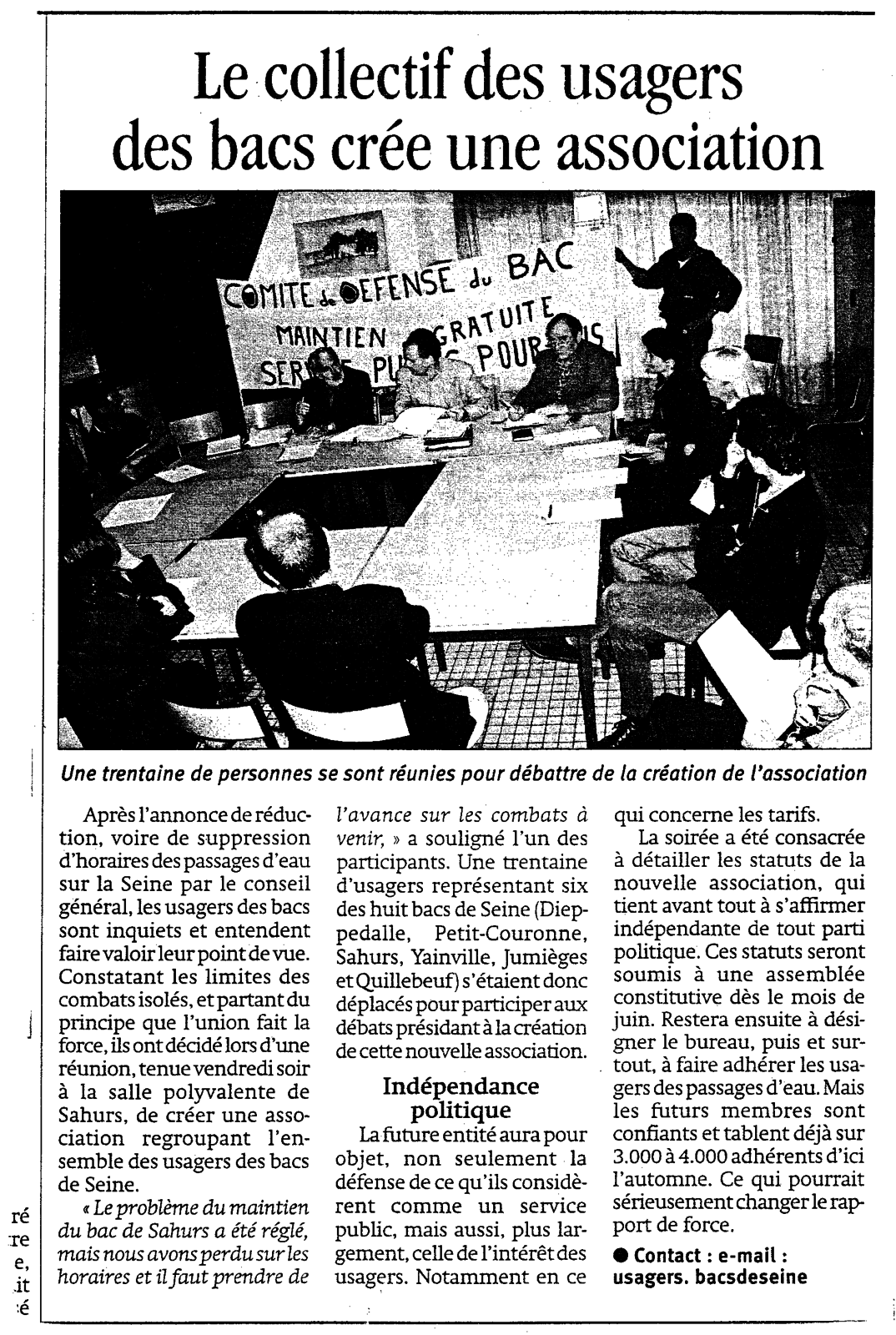 JUIN 2003 CREATION DE L'ASSOCIATION