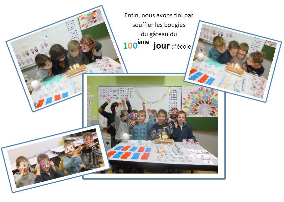 La fête des 100 jours ( classe de CP2-CE1 )