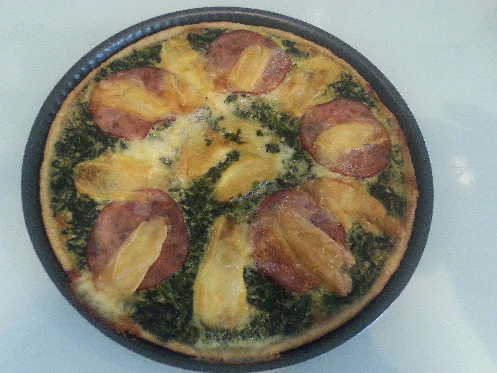 TARTE BACON / REBLOCHON / EPINARDS