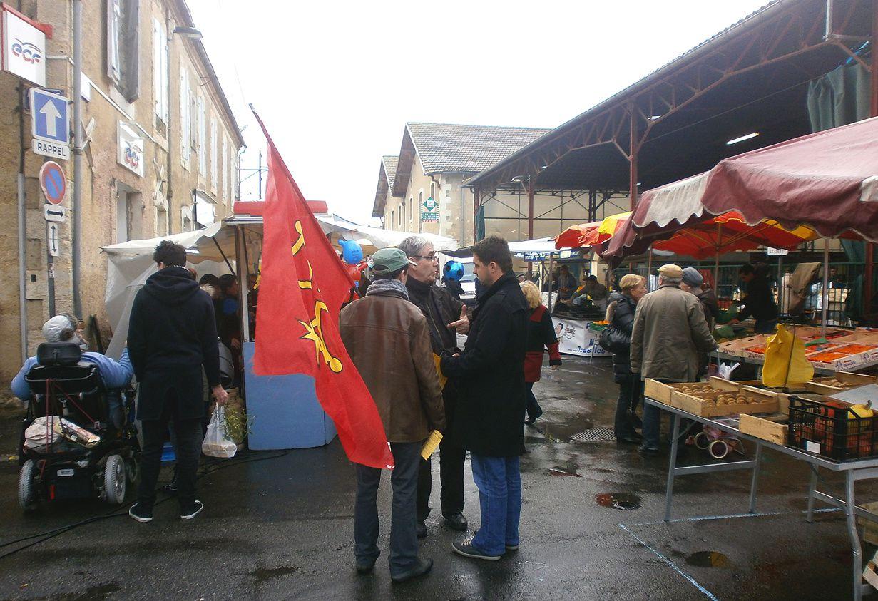 Le PNO sur le marché d'Auch en Gascogne-Armagnac