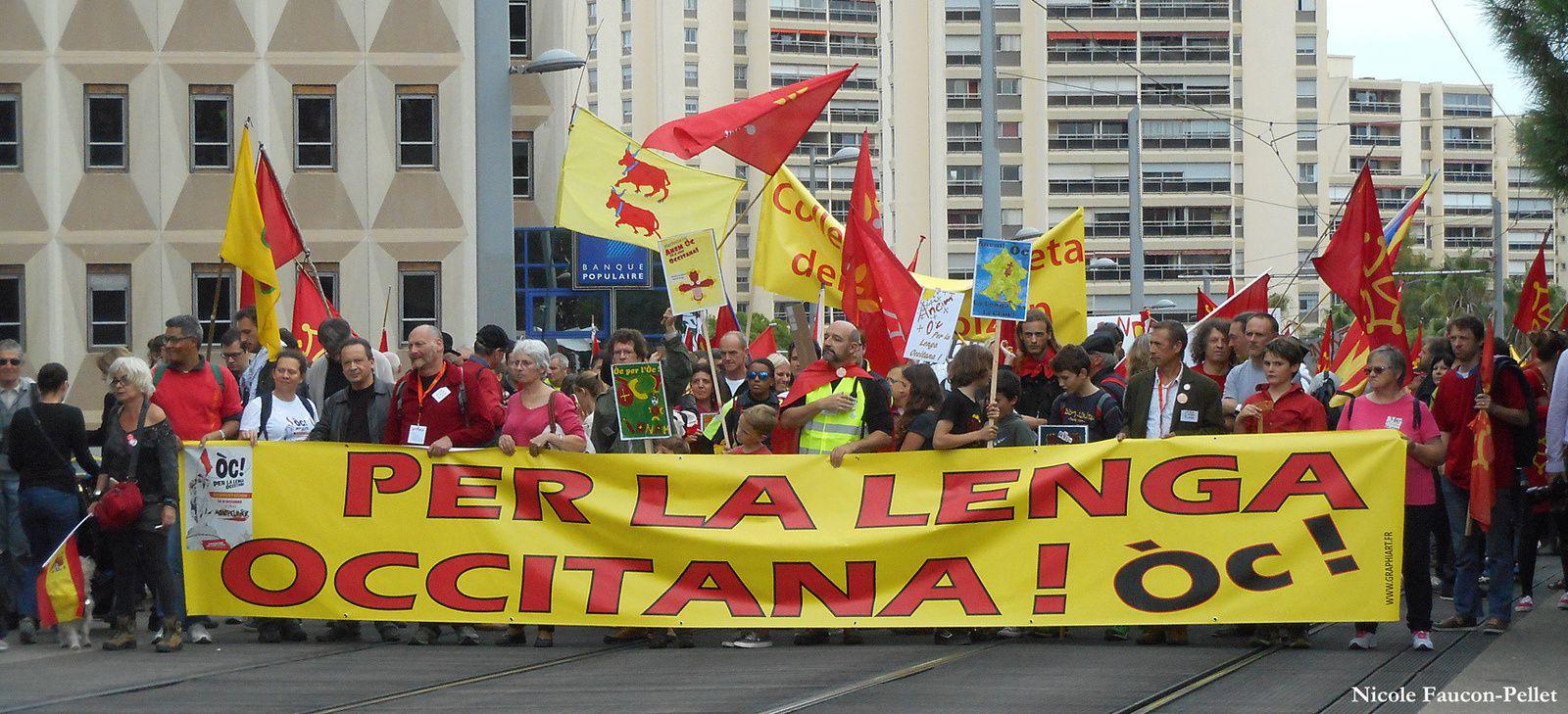Manifestation de Montpellier pour l'occitan   le samedi 24 octobre 2015.