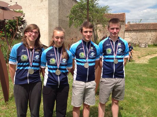 Le Team LDN décroche le titre de Vice Champion de France UNSS VTT 2014