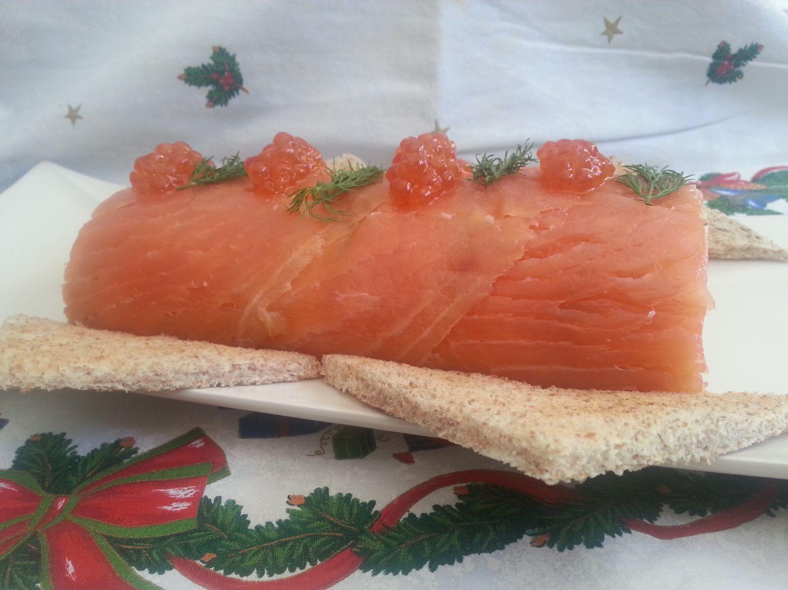 Bûche aux deux saumons - Angel's Kitchen