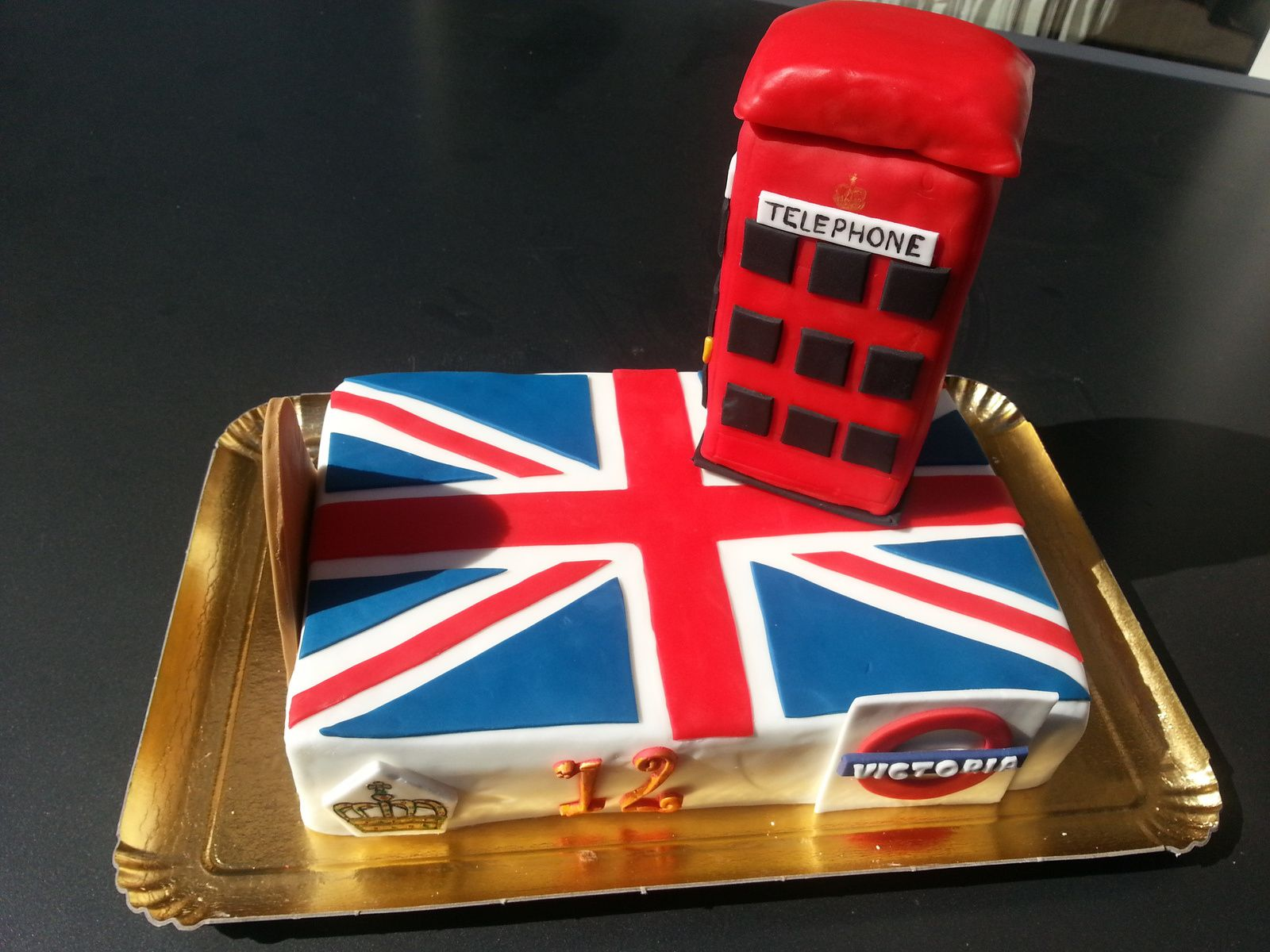 Extrêmement GATEAU UNION JACK THEME LONDRES - AAcook ZX16