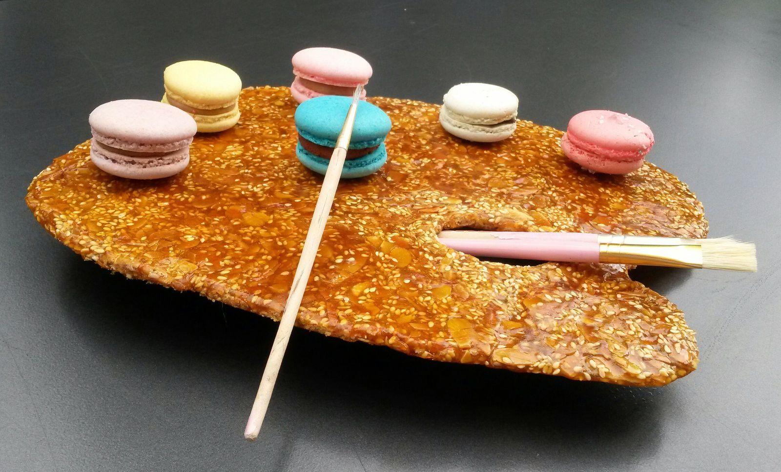 Palette du peintre et couleurs macarons - Angel's Kitchen