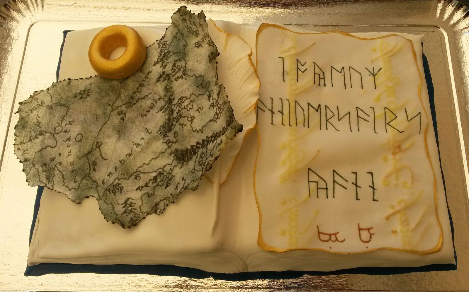 Gâteau Le Seigneur des Anneaux - Le Hobbit - Angel's Kitchen