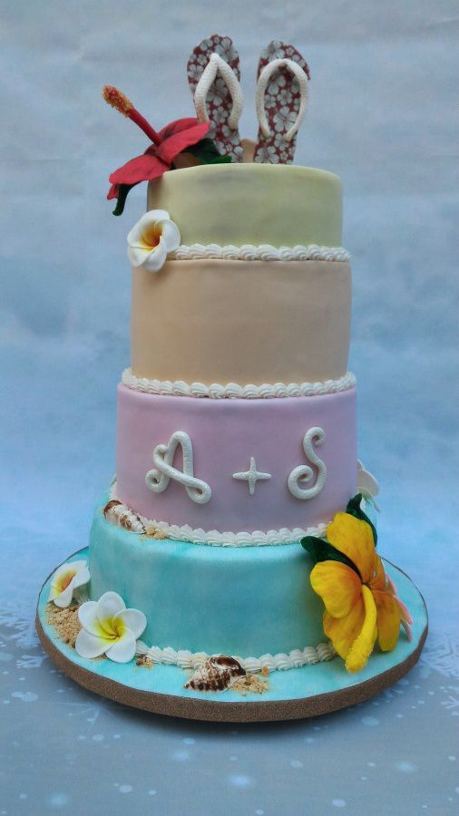 WEDDING CAKE THEME TROPICAL
