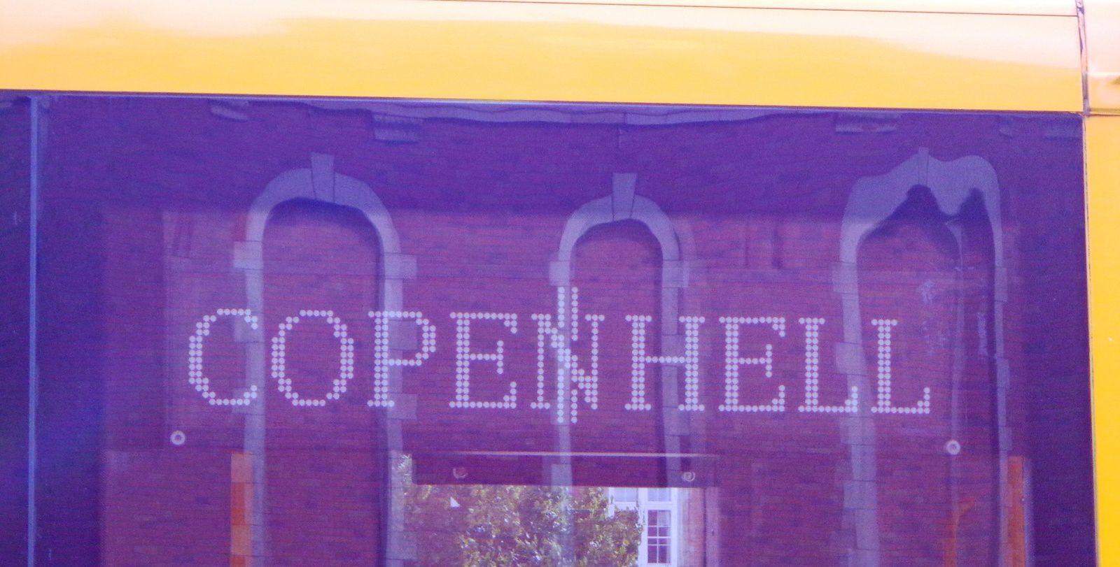 Affichage d'un bus, huh ! huh !