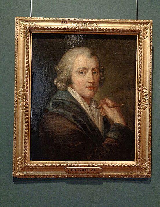 Autoportrait - Greuze, 1755